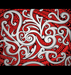 maori tribal ornament vector image