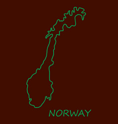 Map of norway filled with flag of the state vector