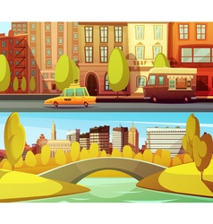 New york horizontal banners vector