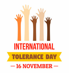 November tolerance day concept background flat vector