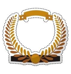 olive branch emblem icon image vector image