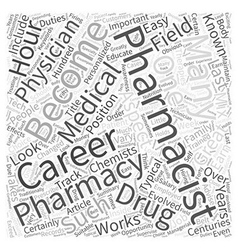 Pharmacist Career An Inside Look Word Cloud vector