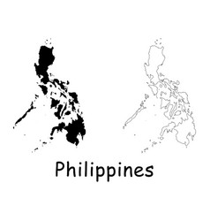 Philippines map vector
