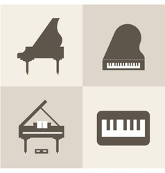 Piano icons vector