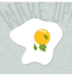 Positive lettering Wake up vector