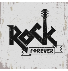 Rock music print vector