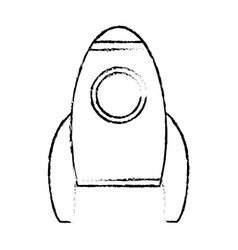 Rocket transport space vehicle sketch vector