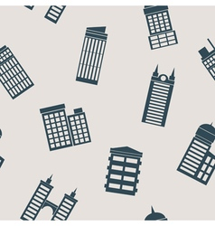 Seamless background with buildings vector image