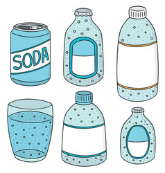 set of soda vector image