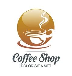 Sketch of coffe cup hot chocolate granule vector