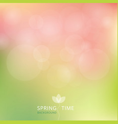 spring summer autumn green and pink color tone vector image