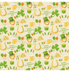 St Patricks Day pattern vector