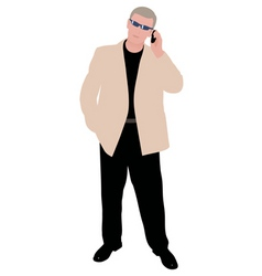 successful man vector image