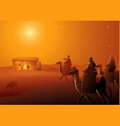 three wise men arrives vector image