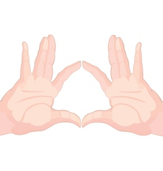Two hands touching fingers vector