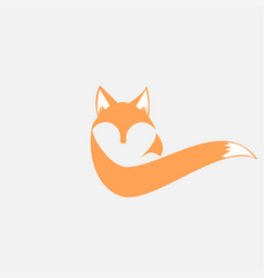unique fox logo design vector image