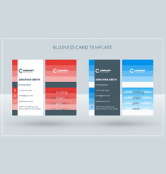 vertical double-sided creative business card vector image