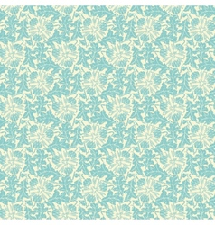 vintage turquoise floral seamless pattern vector image