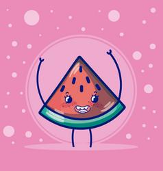 watermelon cute fruits cartoons vector image