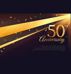 50th anniversary celebration card template vector image