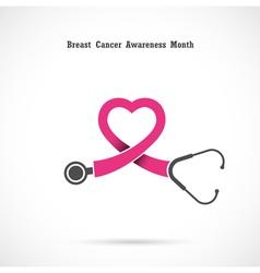 Breast cancer awareness logo vector