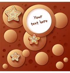 Christmas chocolate bubbles greetings card vector image