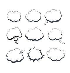 Comic Dream Bubbles vector image vector image