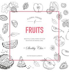 Fruit Frame Invitation Card Wedding Card vector image