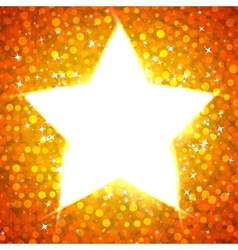 Gold star card template vector image vector image