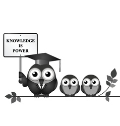 Knowledge is Power vector image vector image