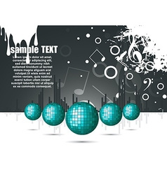musical theme with disco balls vector image