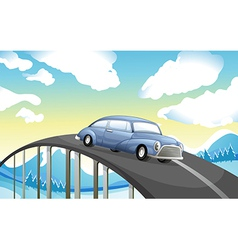 A car at the road vector image vector image