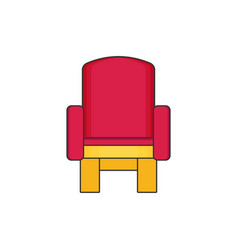 armchair flat vector image