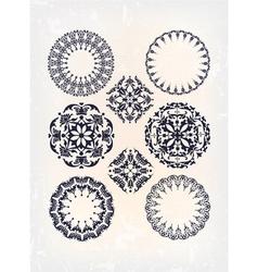 set of antique arabesque vector image vector image