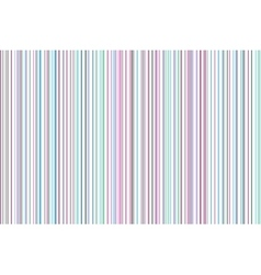 Slim colored stripes pastel colors predominance vector image vector image