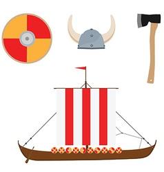 Viking set vector image vector image