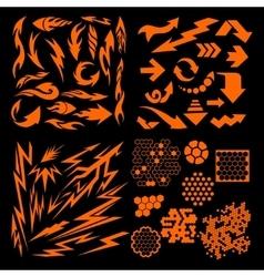 Design elements on black background - big vector image
