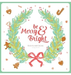 Merry Christmas and Happy New 2016 Year Card vector image