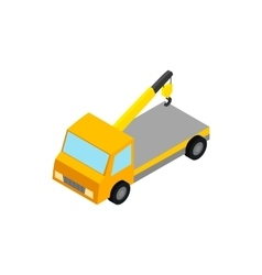 Tow truck icon isometric 3d style vector image vector image