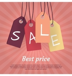 Best price set of sale tags with word sale vector