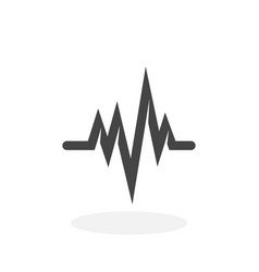 cardiology icon logo on white background vector image