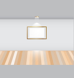 Empty room with blank frame on white wall vector image