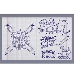 graffiti pen in a notebook vector image