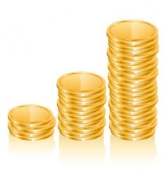 graph of gold coins vector image vector image