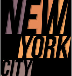 new york city t-shirt tee design typography print vector image vector image