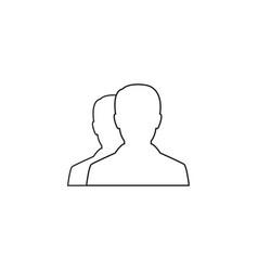 user line icon profile outline logo vector image vector image