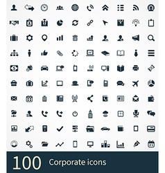 100 corporate icons vector