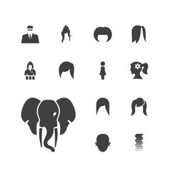 13 portrait icons vector