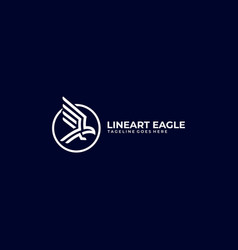 abstract eagle template vector image