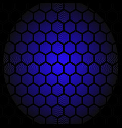 abstract honey comb pattern blue design vector image